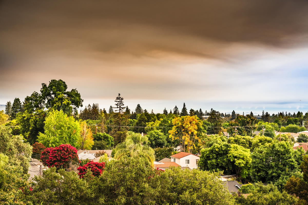 Wildfire smoke over Sunnyvale