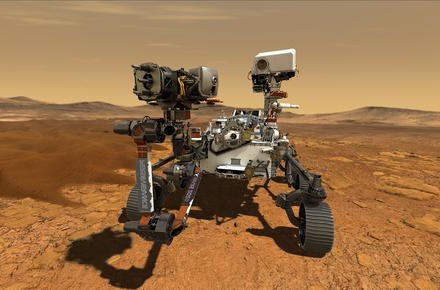 Illustration of rover on Mars